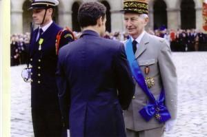 Le Général ROIDOT et le Président Nicolas Sarkozy