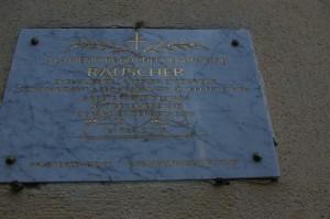 plaque RAUSCHER rue du Four à St Amand Montrond