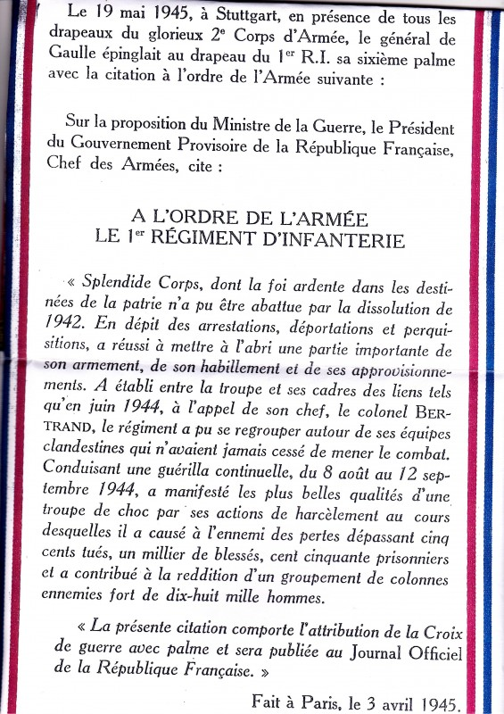 signé DE GAULLE