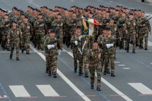 le 1er Régiment d'Infanterie, défilé du 14 juillet 2012
