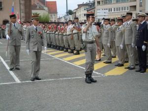 le Colonel Didier GROS et le Général GUIBERT