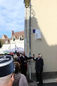 rue du Commandant RAUSCHER dévoilage de la plaque