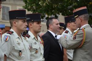 Laurent FISCH décoré par le Colonel BUDAN DE RUSSE