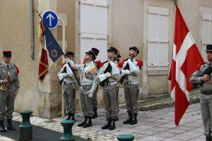 la garde au drapeau 1er R.I.