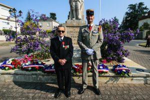 Têtenoire, ancien Résistant (101 ans) qui est venu à la cérémonie au Monument aux Morts